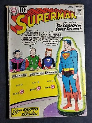 Superman #147 (August 1961, DC) 10 Cent Silver Age Comic NO RESERVE!!!