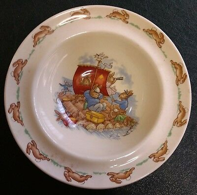 Royal Doulton Bunnykins Bowl Ship A Hoy Rafting Sailing