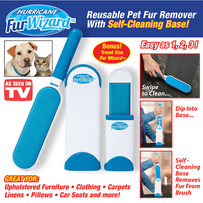 Hot Hurricane Fur Wizard Pet Fur & Lint Remover Travel Size hair Cleaner Brusher