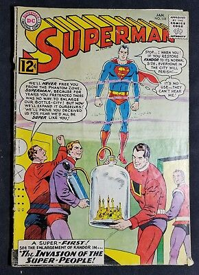 Superman #158 (January 1963, DC) 12 Cent Silver Age Comic NO RESERVE!!!