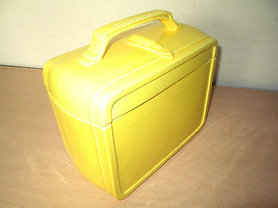 Vintage Eigen Essentials *yellow Lunchbox* Cookie Jar. Japan. Nos.