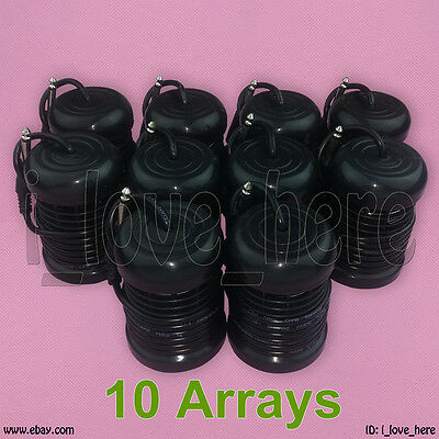10 Black Round Arrays for Ionic Detox Foot Bath Spa Cleanse Machine Accessories