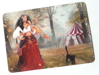 Swap / Playing Card ~ Mysterious Gypsy Lady ~ Modern Wide - Linen
