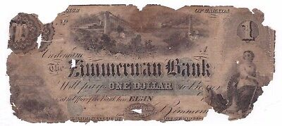 $1 Province of Canada 1856 ??? Zimmerman Bank of Elgin