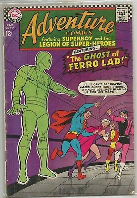 Adventure Comics #357 DC (1967) Silver Age Comic GD+/VG- (Some Pages Detached)