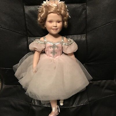 Shirley Temple Ballerina Porcelain Doll Parts Or Repair Tlc Damaged Pink Eyes