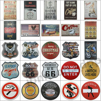Retro Metal Tin Sign Poster Plaque Bar Pub Club Cafe Plate Wall Decor Art #1-#29