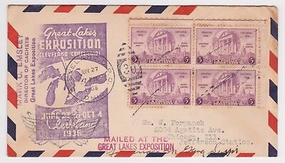 Great Lakes Exposition with Cleveland DPO 6/27/1936 Cancel event Cover