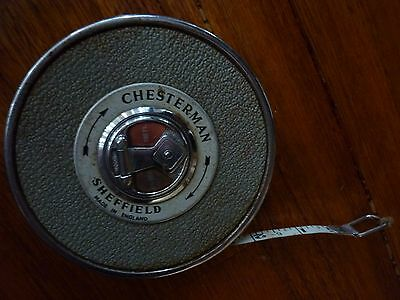 Vintage  Chesterman   Sheffield England Large   Measuring Tape
