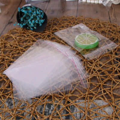 100X Plastic Clear Transparent OPP Self Adhesive Seal Bag Resealable Poly Bags
