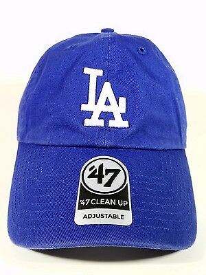 Los Angeles Dodgers 47 Brand Clean up hat, soft Unstructured Unisex One Size