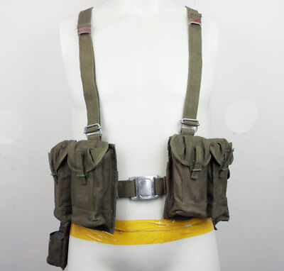 Surplus Chinese PLA Vietnam Canvas Type 63 Auto chest rig Ammo Pouch Bag-0132
