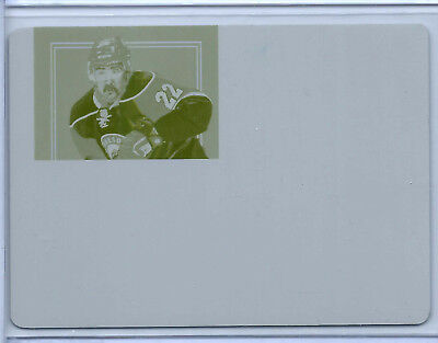 2011-12 Dominion Peerless Patches Printing Plate Yellow #44 Cal Clutterbuck 1/1