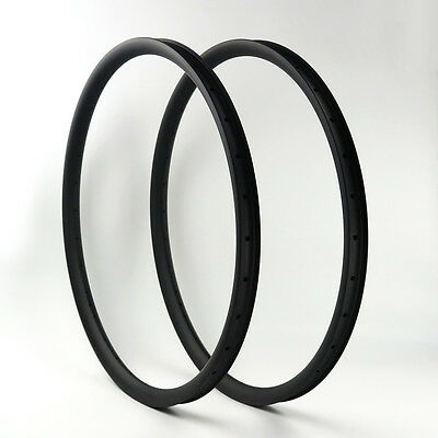 """PROMOTION Stock NEXTIE 37mm Carbon 29"""" MTB Clincher Bicycle Rim Tubeless 1PAIR"""