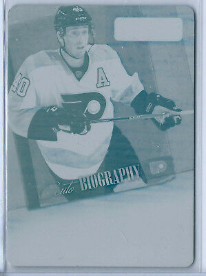 2013-14 Playbook AUTObiography Printing Plate Cyan #34 Vincent Lecavalier 1/1!