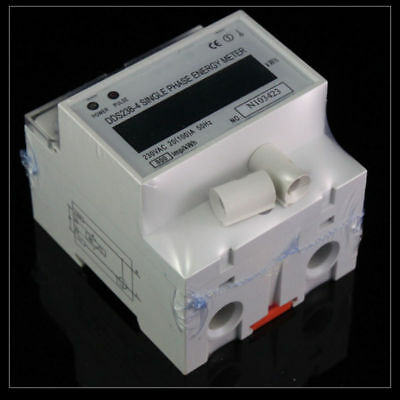 230V Single Phase DIN-rail Type Kilowatt Hour kwh Meter