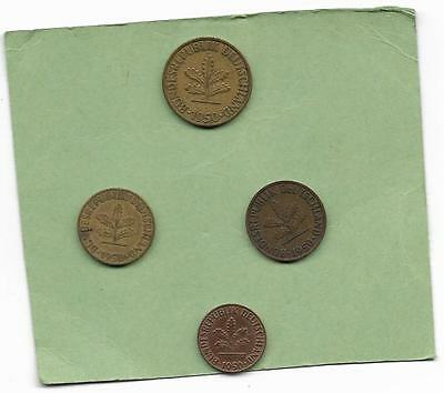 4 1950 coins from Germany.  (35)