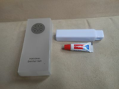 Very convenient useful travel toothbrush & 5g Colgate toothpaste weekend holiday