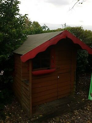 Two storey wooden playhouse wendy house