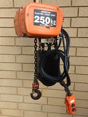 Hitachi 1/4S 250kg Electric Chain Hoist 3ph Single Speed 3m Lift