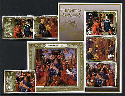 Niue 548-52 MNH Christmas, Art, Paintings