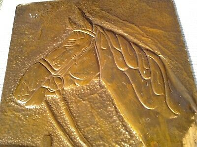 Vintage Copper Wall Relief / Wall Plaque / Picture ~ Horse