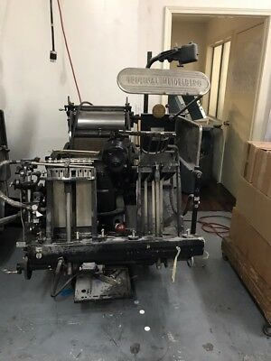 "Original Heidelberg Windmill Press 10""x13 1960"