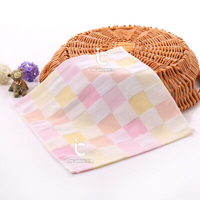 Pink Color 28*28cm 100% Cotton Muslin Towel Handkerchiefs 2Layer Wipe Towel Face