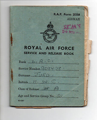 Royal Air Force Service And Release Book