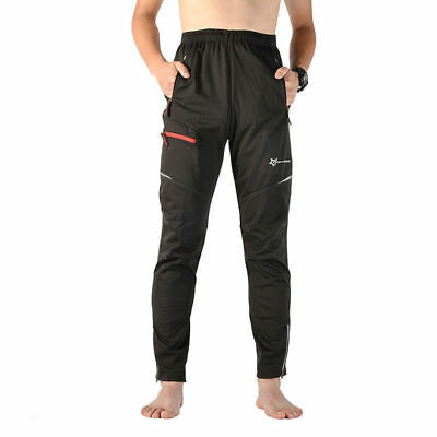 RockBros Cycling Casual Pants Reflective Windproof Winter Warm Trousers Black