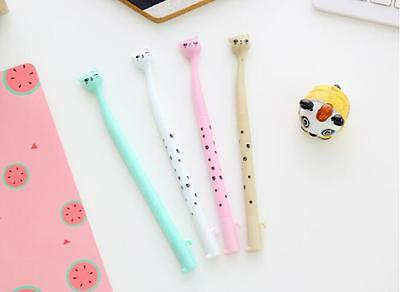 4 Colors Pink Cartoon Cats Ballpoint Pen Creative Stationery Student Lovely Pen