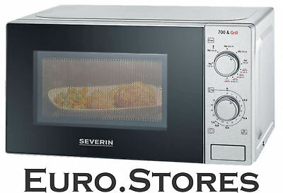 Severin MW 7896 Microwave With Grill Function 2-in-1 Stainless Steel Black New