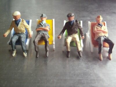 Subbuteo Table Cricket Spectators In Deckchairs Tc-Q **good Condition**