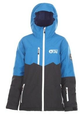 Picture Kid Snowboard Jacket - Tommy - Black, Blue, Youth, Ski - 2018