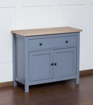 Wooden Top Sideboard Grey Chest Drawers Cupboard Hallway Living room Kitchen