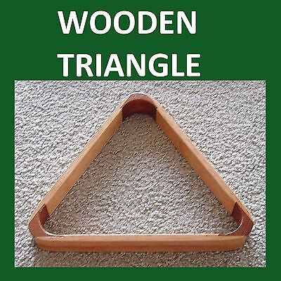 """"""" WOODEN """"  Triangle FOR 2""""  BALLS * POOL / SNOOKER ***   eofy 2017"""