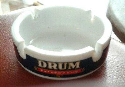 Original DRUM tobacco / shag cigarette ceramic ASHTRAY