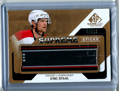 2014-15 UD SP Game Used Supreme Sticks #PA-ES Eric Staal 08/12