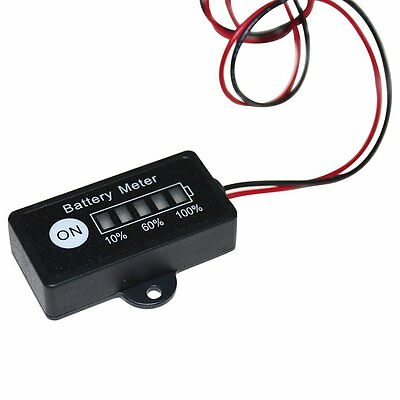 12V Lead Acid Battery Fuel Gauge Indicator Meter for 12 Volt SLA,AGM,GEL Battery