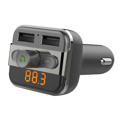 Bluetooth FM Transmitter Car Charger with Music MP3 Player, Hands-Free Calling,