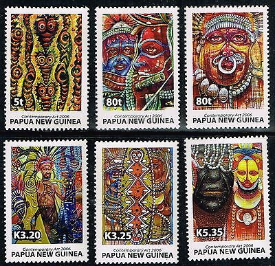 2006 Papua New Guinea Contemporary Art Full Set of 6 Stamps  MNH