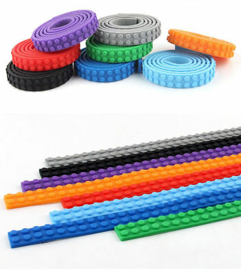 8 Colors 1M Strip Lego Building Block Flexible Roll Self-Adhesive Washable Tape