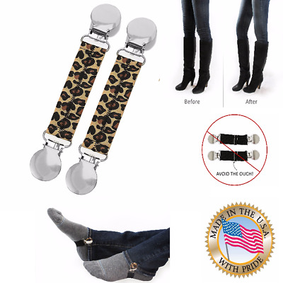 MAXIMUM COMFORT Pants Clips Adjustable Elastic Straps for Women's Shoes Boots