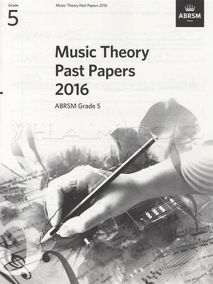 ABRSM Music Theory Past Papers 2016 Grade 5 Exams Tests Sheet Music Book