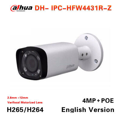 Dahua IPC-HFW4431R-Z 2.8mm ~12mm varifocal motorized lens 4MP Network camera