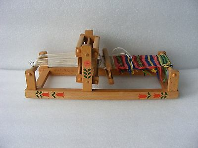 Vintage Old Retro Antique Handmade Wooden Weaving Loom