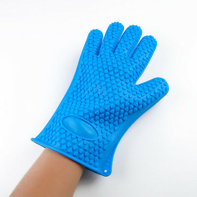 Hot Pro Kitchen Tool Heat Resistant Silicone Glove BBQ Oven Baking Cooking Mitt
