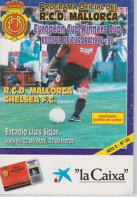 Rdc Mallorca V Chelsea ~ European Cup Winners' Cup Semi Final ~ 22 April 1999