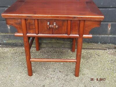 Mid 20th Century Oriental Wooden Side Table Full of Character