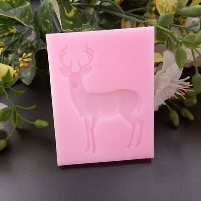 Hot 3D Deer Cake Silicone Mold Fondant Cake Decorating Tools Kitchen Baking Mold